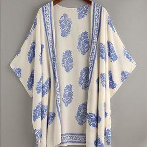 Vintage Pattern Print Kimono Small
